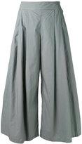 Labo Art - wide pleated trousers - women - Cotton - 0