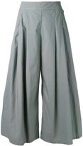 Labo Art - wide pleated trousers - women - Cotton - 1