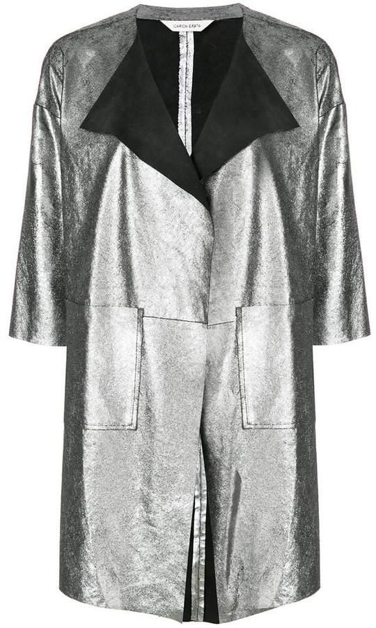 Giorgio Brato metallic panelled jacket