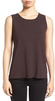 Eileen Fisher Petite Women's Lightweight Jersey Round Neck Tank