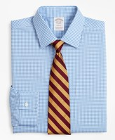 Brooks Brothers Stretch Soho Extra-Slim-Fit Dress Shirt, Non-Iron Poplin Ainsley Collar Gingham