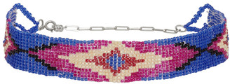 Isabel Marant Blue and Multicolor Beaded Choker