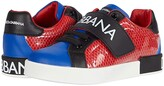 Dolce & Gabbana Snk Bassa Allacciata Rete+Pvc+ (Toddler/Little Kid) (Rosso/Blu) Kid's Shoes