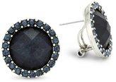 "Rachel Leigh Adorned"" Midnight Round Stud Earrings"