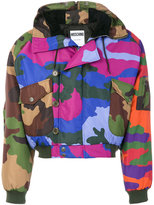 Moschino camouflage hooded coat