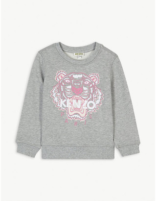 Kenzo Logo-embroidered cotton sweatshirt 4-14 years