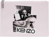 Kenzo Pink Patent Essentials Pouch