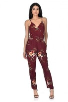AX Paris Rust Floral Printed Jumpsuit