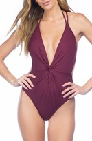 Kenneth Cole New York Women's Sexy Solid One-Piece Swimsuit