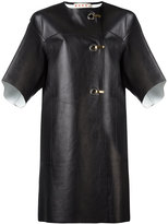 Marni hook and eyelet leather coat