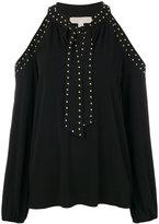 MICHAEL Michael Kors studded cut-out sweater - women - Polyester/Spandex/Elastane - XS