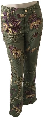 Gianfranco Ferre Khaki Silk Trousers