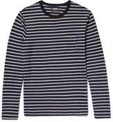 Todd Snyder Striped Cotton-jersey T-shirt - Gray