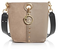 See by Chloe Gaia Leather & Suede Bucket Bag
