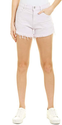 7 For All Mankind Seven 7 High Waist Light Lilac Frayed Short