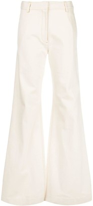Rosetta Getty Flared Wide-Leg Trousers