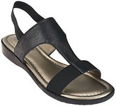 Me Too Metallic T-strap Sandals with Goring - Zoey