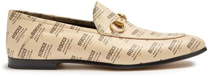 Gucci Brixton logo-print leather loafers