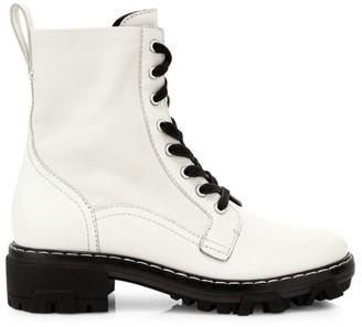 Rag & Bone Shiloh Lace-Up Leather Combat Boots