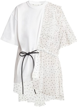 Sacai Ruffled Polka Dot T-Shirt