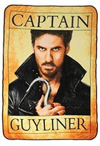 Disney Once Upon A Time Hook Captain Guyliner Throw Blanket
