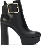 Casadei x Lena Perminova platform ankle boots with side buckle