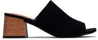 Toms Black Suede Women's Grace Mule Sandals