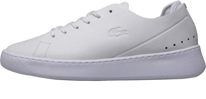 ac69bc466b3d Lacoste White Leather Trainers - ShopStyle UK