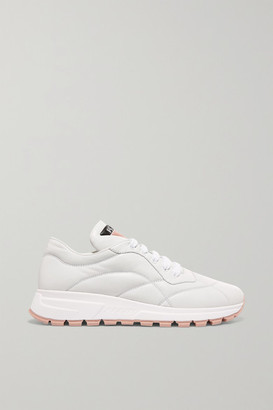 Prada Mattress Printed Quilted Leather Sneakers - White