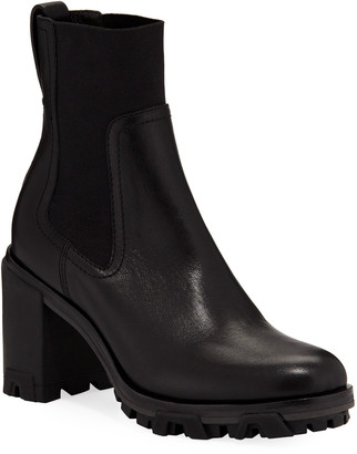 Rag & Bone Shiloh High Gored Booties, Black