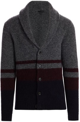 Saks Fifth Avenue COLLECTION Colorblock Shawl Cardigan