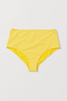H&M - Bikini Bottoms High Waist - Yellow