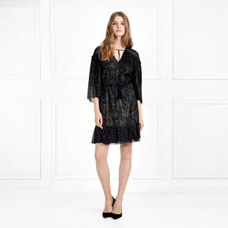 Rachel Zoe Kaya Metallic Fil Coupe Mini Dress