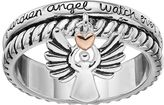 Love this life Two Tone Silver Plated Guardian Angel Charm Ring