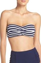 Tommy Bahama Women's Breton Stripe Bandeau Bikini Top