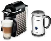 Nespresso Pixie Espresso Machine and Aeroccino Plus Bundle in Titanium