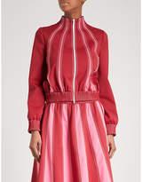 Valentino Striped woven bomber jacket
