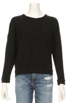 Sundry Light Terry Crop Pullover Sweatshirt