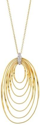 Marco Bicego Marrakech Onde 18K Yellow Gold & Diamond Coil Pendant Necklace