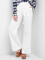 Gap Tie-belt wide-leg trousers