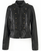 Military-Style Leather Jacket