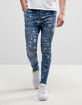 SikSilk Super Skinny Jeans In Blue