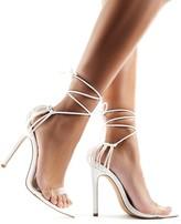 Public Desire Isla Perspex Lace Up Heels
