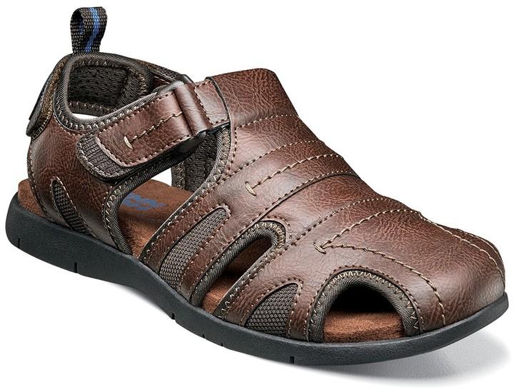 Mens Toe Loop Leather Sandals   Shop