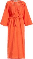 Mara Hoffman Luz Belted Cotton and Linen-Blend Midi Dress