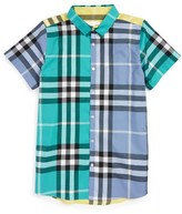 Burberry Boy's Fredrick Check Print Woven Shirt