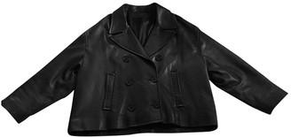 Neil Barrett Black Leather Jacket for Women