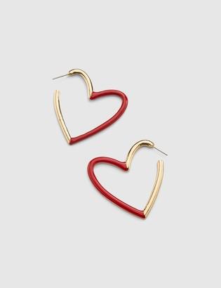 Lane Bryant Heart Hoop Earring