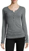 Velvet Alene Henley T-Shirt, Gray
