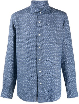 Barba Small Floral Print Shirt
